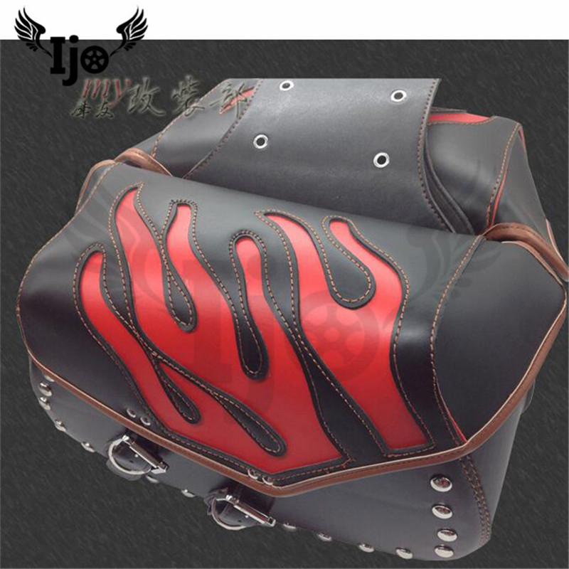 maletas moto saddle bag for Vespa benelli harley softail mochila moto alforjas para moto pernera moto helmet bag motorcycle bag