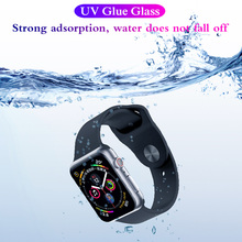 3D Nano Liquid UV Glass For Apple Watch 40mm 44mm 40 44 Screen Protector Flim For iWatch 4 Series 9H HD Tempered Glass цвета apple watch 4