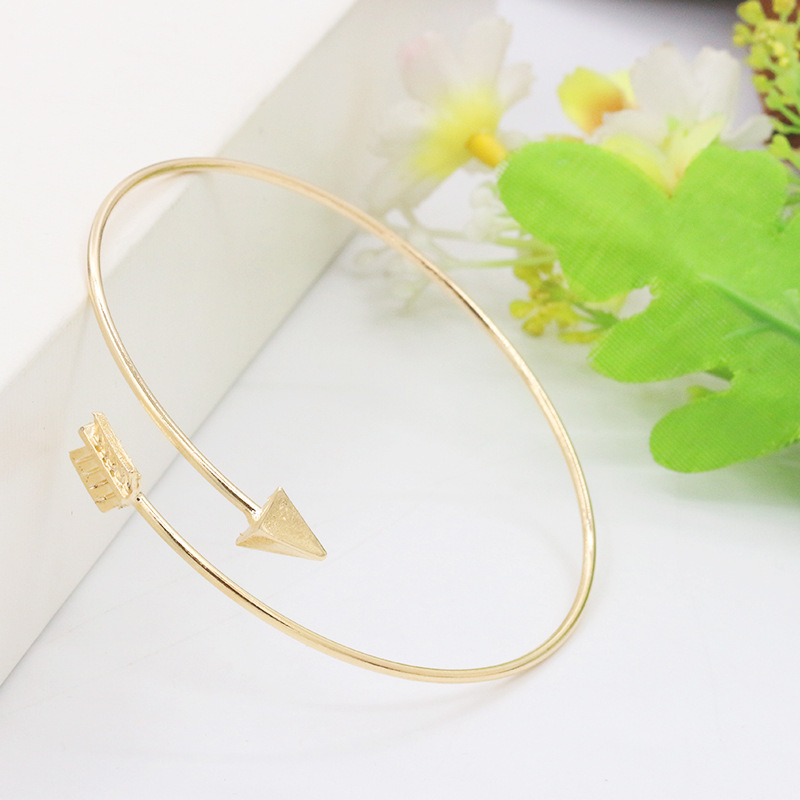 Fashion Women Arrow Bangle Cuff Bracelets Open Adjustable Arrow Bracelet Bangles Jewelry Gifts Pulseiras Bijoux