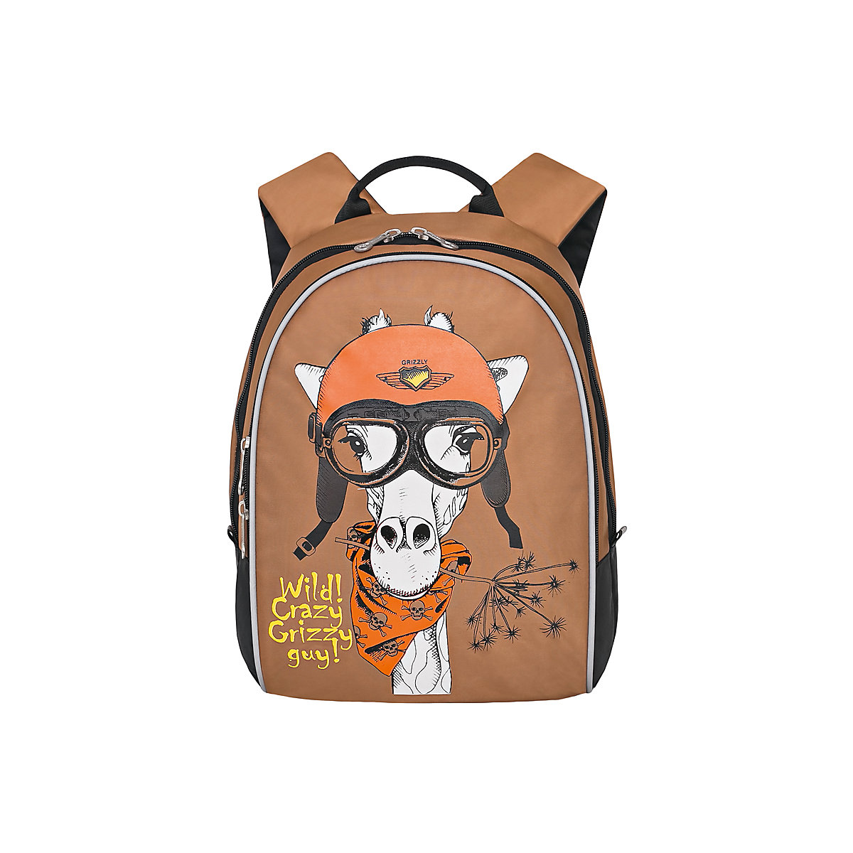 GRIZZLY School Bags 11863886 schoolbag backpack orthopedic bag for boy and girl animals 2017 nylon fashion backpacks women young ladies backpack girl student school bag for laptop travel bag black mochilas hot sale