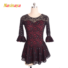 Nasinaya Figure Skating Dress Customized Competition Ice Skating Skirt for Girl Women Kids Gymnastics Performance Pagoda Sleeve new version pagoda pro pagoda 5 8ghz omnidirectional antennas flat antenna for fpv competition fatshark dominator hd3 goggle