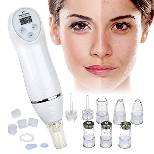 100V-240V Original Microdermabrasion Machine Blackhead Removal Skin Peel Diamond Dermabrasion Facial Massage silver 2 heads 2015 new best personal dead blackhead removal diamond microdermobrasion machine