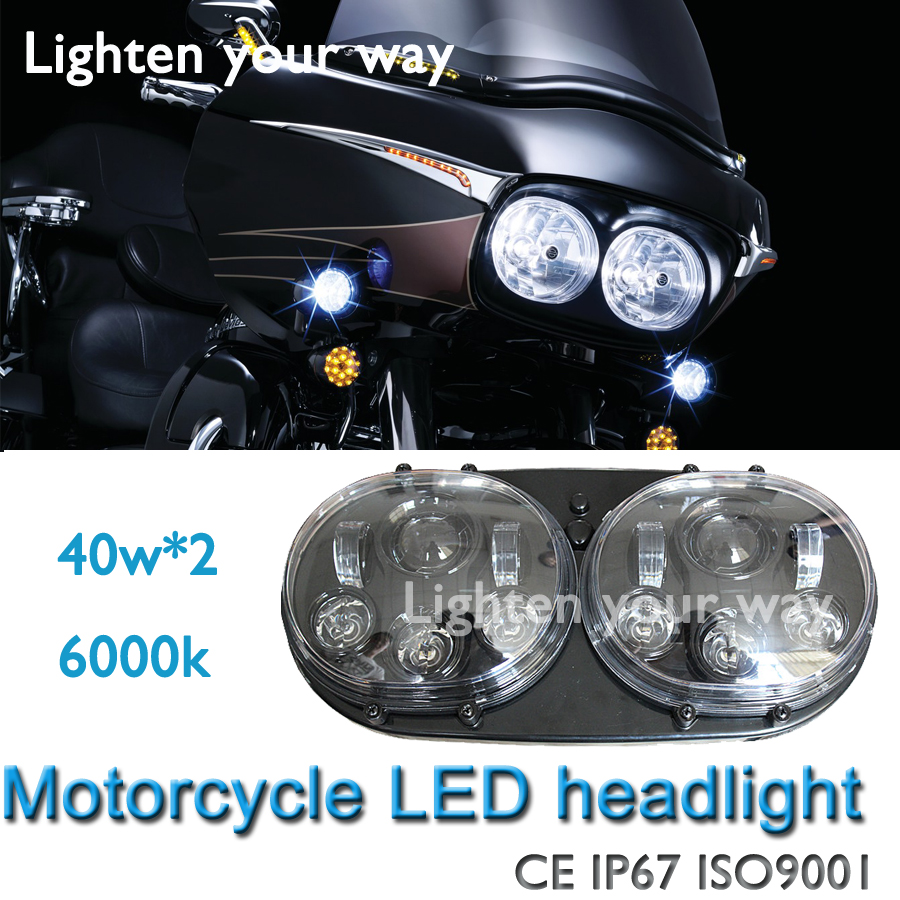 1piece new arrival plugu0026play 12v-24v Hi/lo beam Chrom Road Glide 5-3/4 LED Headlight 5.75 Projector Daymaker L& for Harley & ?1piece new arrival plugu0026play 12v-24v Hi/lo beam Chrom Road Glide 5 ...