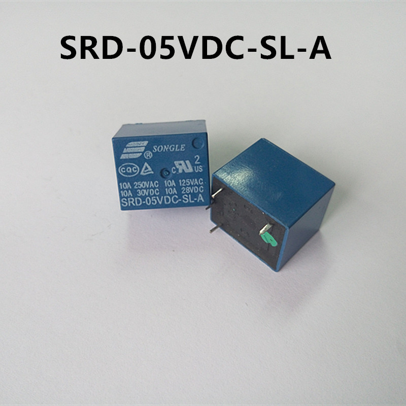 5V DC SONGLE Power Relay T73-5V  SRD-05VDC-SL-C PCB Type UL,CUL,TUV recognized 5V 10A 10pcs lot srd 5vdc sl c srd 5vdc srd 05v songle power relay dip 4 100