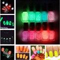 12 colores Venta Caliente Del Verano fresco del color del caramelo de Neón Fluorescente Luminoso Nail gel Polaco Glow In Dark Laca de amor de Las Muchachas