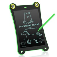 NeWYeS 8.5 Inch LCD Writing Tablet Kid Drawing Board Animal Electronic Notepads Green Art Graphic Doodle Pad Graffiti with Pen