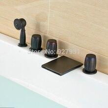 Масло Втирают Бронзовый Хорошее качество Водопад На Бортике Ванной Кран вт/ручной Душ-5 шт.