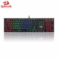 Redragon K556 PK RGB LED Backli Mechanical Gaming Keyboard with Brown Switches 104 Keys Retro Vintage USB Typewriter Inspired