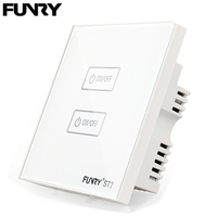 FUNRY UK 1gang1way Remote Control Touch Switch High Grade Smart Switch White Black Gold Optional 110