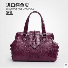 Gete new Thai real crocodile skin bag women handbag leather fashion buckles. Lady crocodile leather bags
