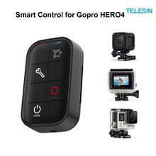 Telesin conjunto controlador de wi-fi inteligente de controle remoto à prova d' água com cabo de carregamento e cordão para gopro hero 5, hero 4, hero 3 +