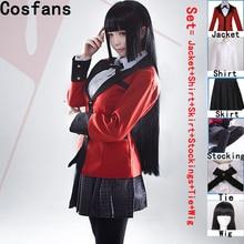Hot Cool Cosplay Costumes Anime Kakegurui Yumeko Jabami Japa