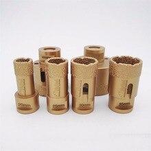 6pcs/set Vacuum brazed diamond drilling bits for granite & marble M14 Thread drill bits, Dia 20/25/30/35/50/65MM