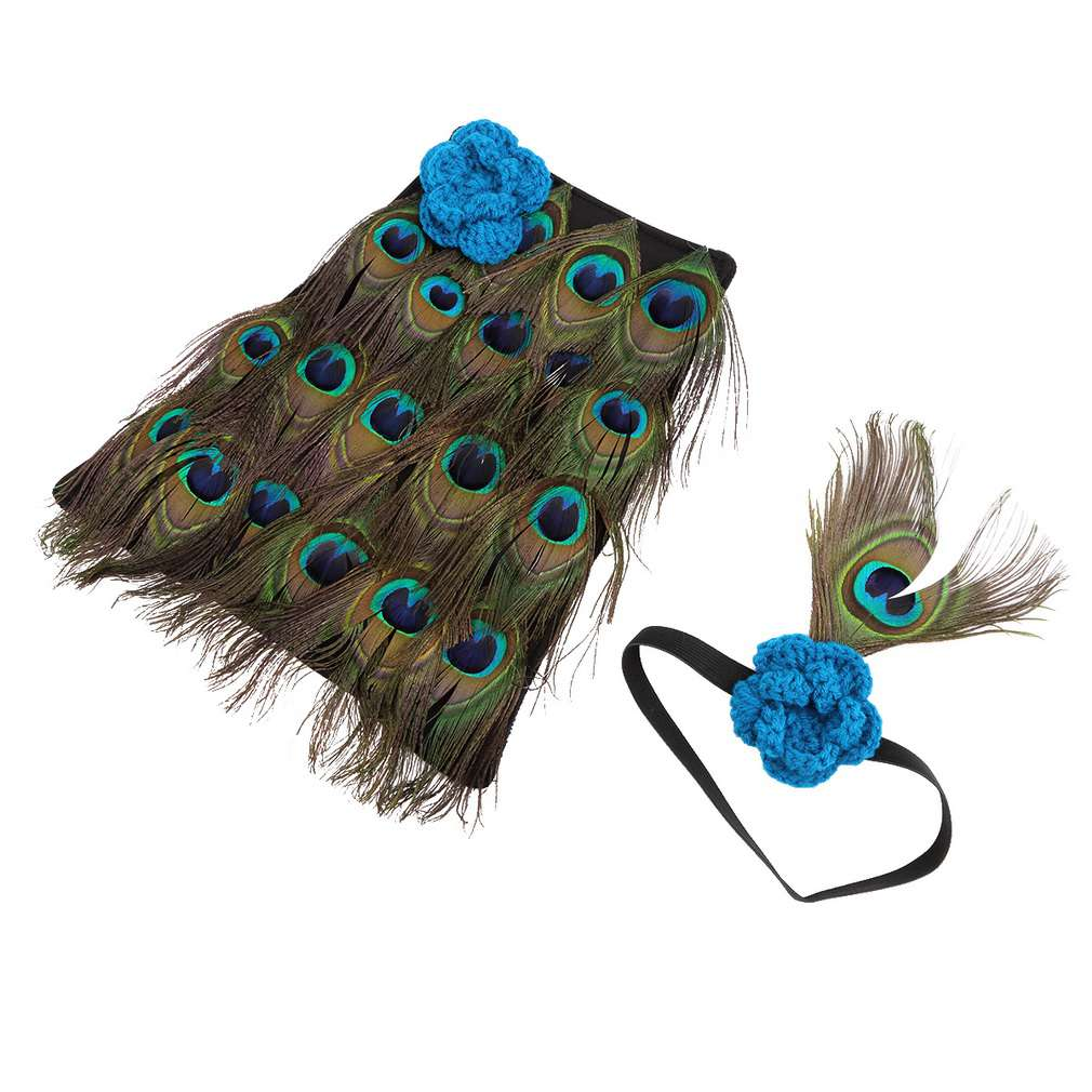 Hot! Newborn Baby Peacock Prop Costume Headband Clothes Set Photo Photography Handmade knit crochet New Sale