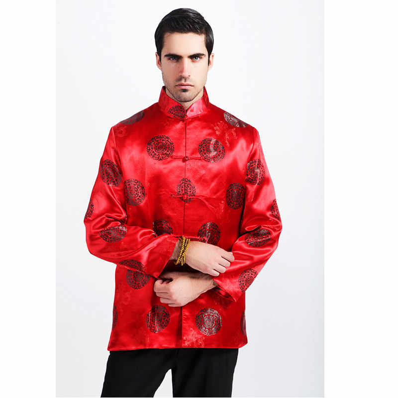 9bb889f75abc ... Fashion Blue Chinese Men Silk Rayon Jacket Traditional Handmade Button  Coat Tang Suit Top Overcoat Clothing ...