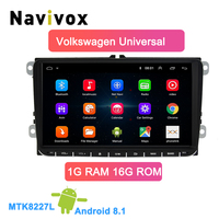 Navivox Car Multimedia player android 8.1 2 Din Car DVD For VW/Volkswagen/Golf/Polo/Tiguan/Passat/b7/b6/SEAT/leon/Skoda/Octavia