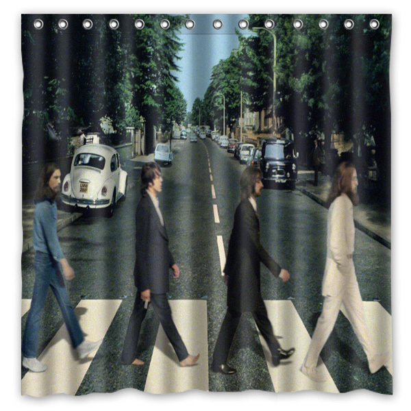Novelty Bathroom Products!Abbey Road Of The Beatles Printed Waterproof Polyester Shower Curtain/Bath Curtain( 180X180CM)