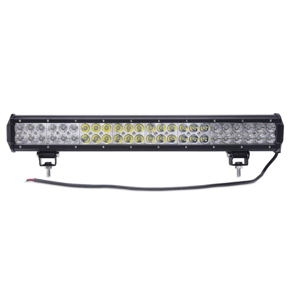 ФОТО 23 INCH 144W LED WORK LIGHT BAR Headlights OFFROAD LAMP 12V 24V  led offroad  Tractor Boat FLOOD SPOT OFFROAD LAMP