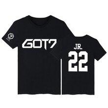 KPOP GOT7 Kpop BAMBAM TShirts JB Jackson Short Sleeve T-shirts with GOT 7 Kpop Hip Hop T Shirt Women in Tee Shirt Women Custom