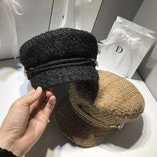 Модные зимние и осенние дамские шапки, женские шляпы, вельветовые кепки, Европейская и американская Ретро Плоская верхняя Повседневная восьмиугольная кепка