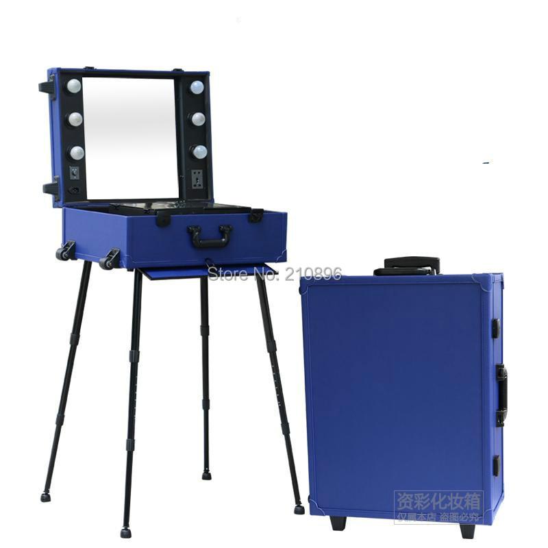 Fälle Trolley Maquiagens Eurapean Profissional Verschiffen Blau Maleta Freies Nach De Makeup Roll SzRWHp