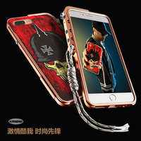 Cool Fashion 3D Stereo Relief Skeleton Skull Patterned Aluminum Metal Bumper Frame Cover For Iphone X