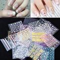 Горячая 10 листов/пакет 3d Mix Мода Цветы Leopard Дизайн Nail Art Наклейки Надписи DIY Красоты Ногтей Украшения маникюр Инструменты