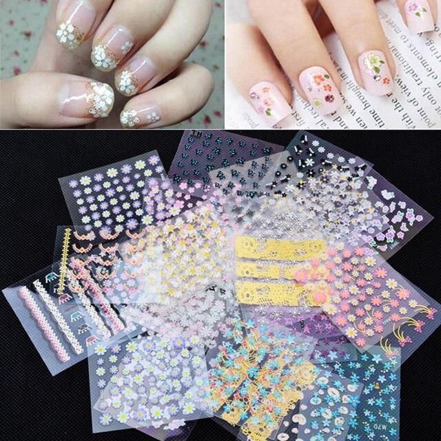 Diy Snow Leopard Nail Art: Aliexpress.com : Buy Hot 10sheets/pack 3d Mix Fashion