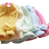 Candy Colors Coral Velvet Bow Pumpkin Pants Backing Shorts Kawaii Soft Sister