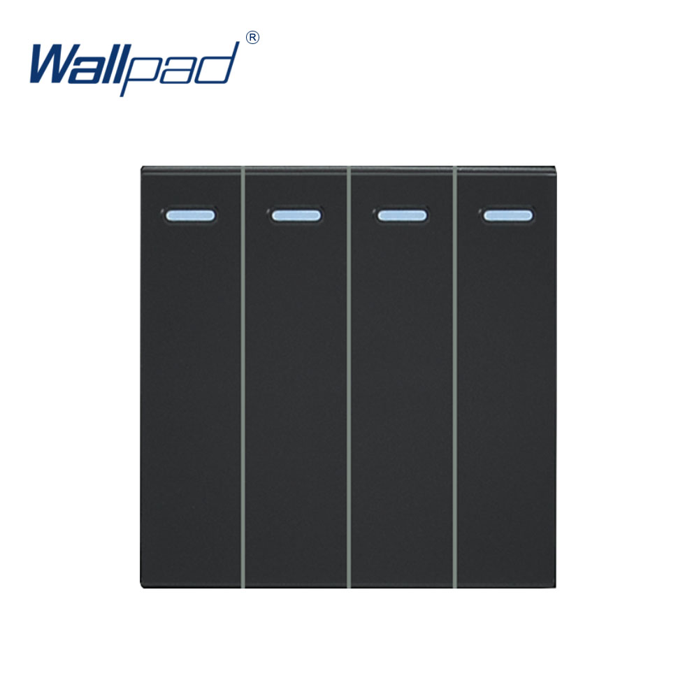 Wallpad Luxury 4 Gang 1 Way Switch Function Key For Wall