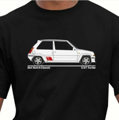 MODIFIED. RENAULT 5 GT TURBO t-shirt RETRO FRENCH CLASSIC CAR