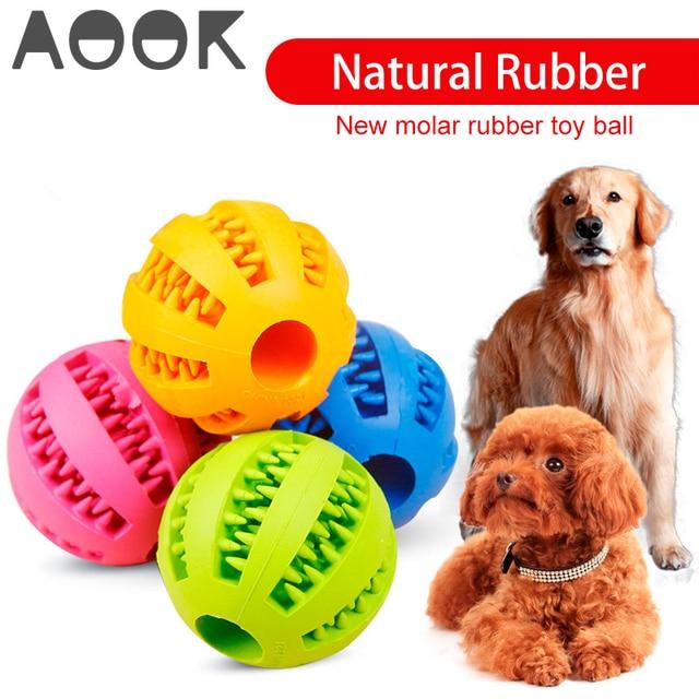 AOOK собака игрушка интерактивные резиновые шарики Собака Кошка Щенок жевательные игрушки мяч резинка для жевания игрушки зубная Чистка шары еда