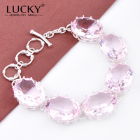 Best Sell Hot 925 Silver Fashion Design Mystic Topaz Crystal Bracelet As Woman S Gift Free