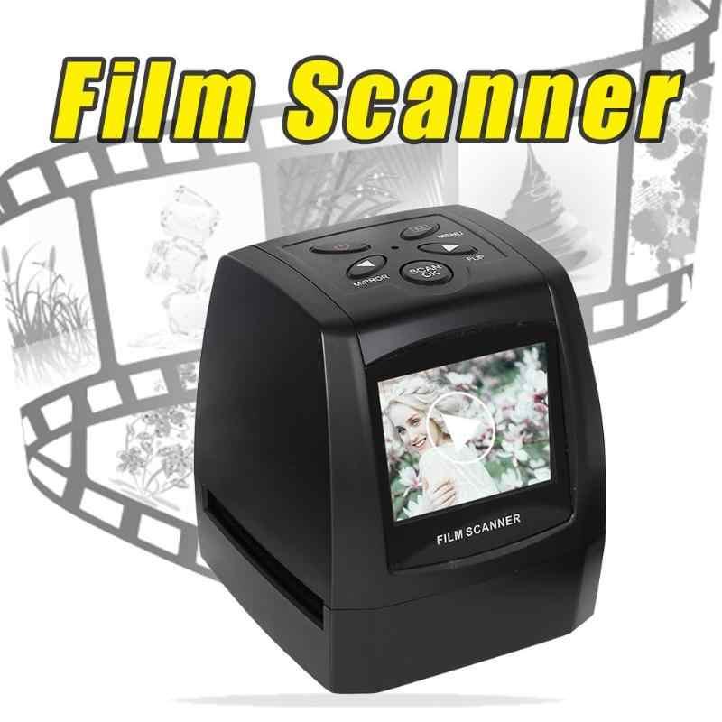 """2.36 """"LCD شاشة صغيرة 5MP 35 مللي متر الشريحة السلبية فيلم الماسح الضوئي عالية الدقة الرقمية صور فيلم يحول مع كابل يو اس بي"""