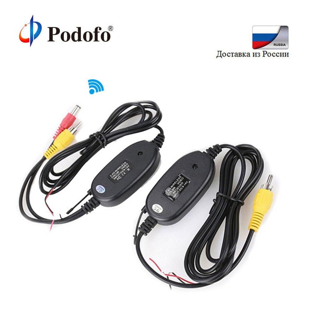 Podofo 2,4G Wireless Transmitter und Empfänger für Auto Reverse Rückansicht Backup-Kamera und Monitor Einparkhilfe Fahrzeug CAM