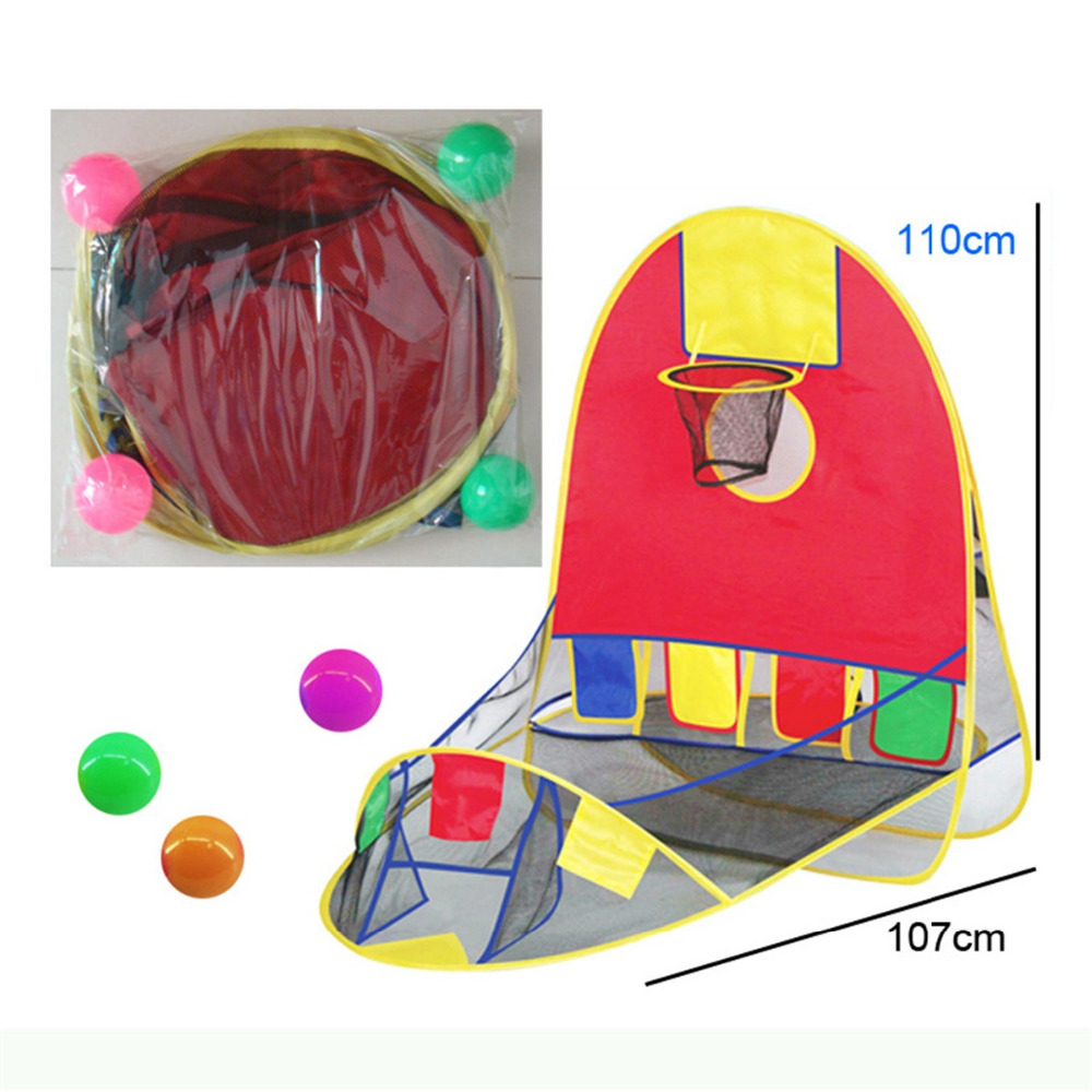 Tents Toy Portable Prince Folding Tent Children Play House For Kids Gifts Outdoor Balls Outdoor Camping Ship Beach Sports Game