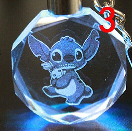 Брелок светодиодный кристалл Стич в ассортименте 4
