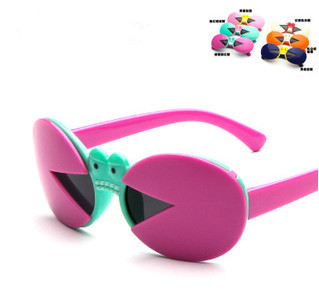 brand children sunglasses 2015 cute crabs baby sunglasses polarized UV400 protection kids sunglasses boys girls 1315