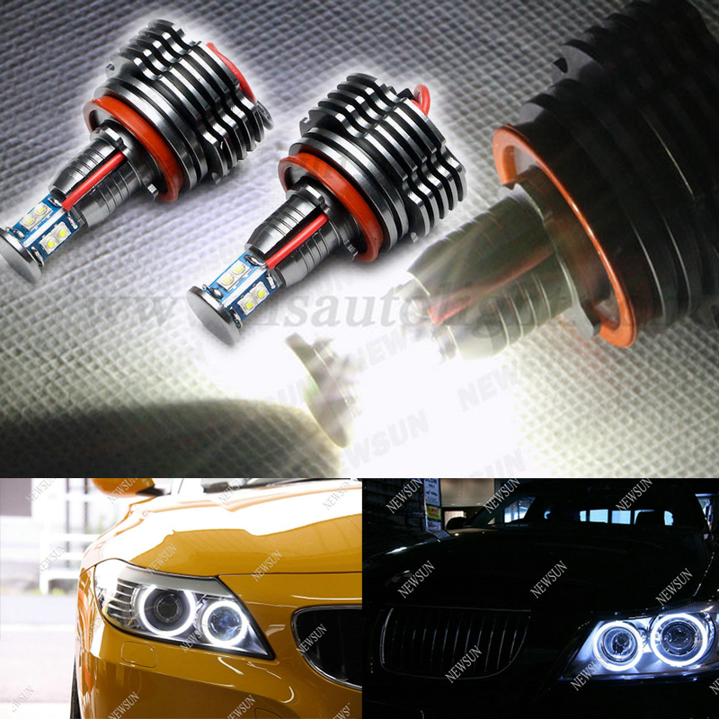 ФОТО Cree chip Led 80W H8 Daytime Running angel eye lamp Bulbs for E60 E63 E70 E71 E82 E87 E89 E90 E91 E92 E93 led marker bulbs