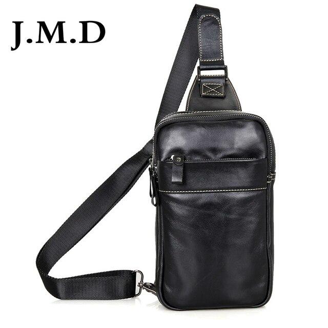 99e01fb35 J.m.d inek deri erkek göğüs çanta siyah sling çantası çocuğun back  paketleri için popüler satchels omuz