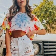T Shirt Women Summer Newest Female Print Tshirt Casual Short Sleeve Crop Tops 2019 Fashion Round Neck T-shirt Women Clothing casual short sleeve round neck lion print t shirt for women