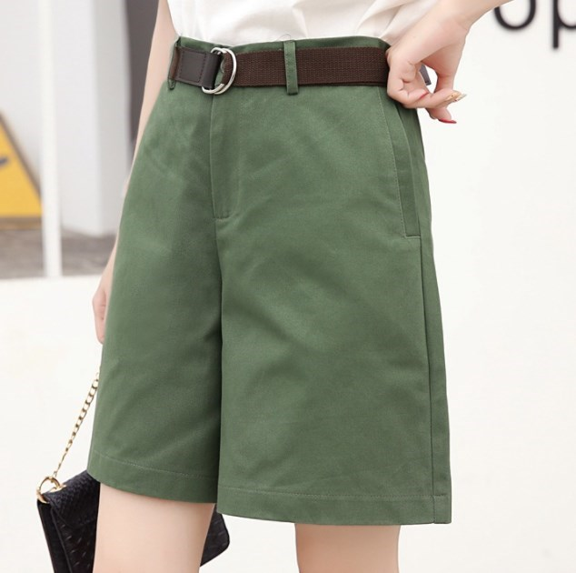 Summer Boyfriend Straight Shorts For Women Black White Green Khaki Casual Teenage Girl Loose Hot Short Pants Cotton Shorts Mujer