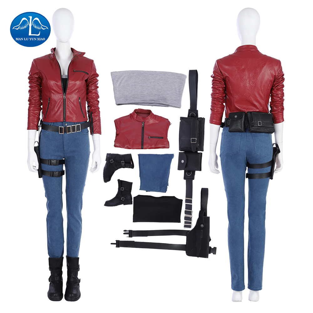 New Arrival Resident Evil 2 Cosplay Costume Women Claire Cosplay Costume Halloween Costumes For Women Game Suit Custom Made