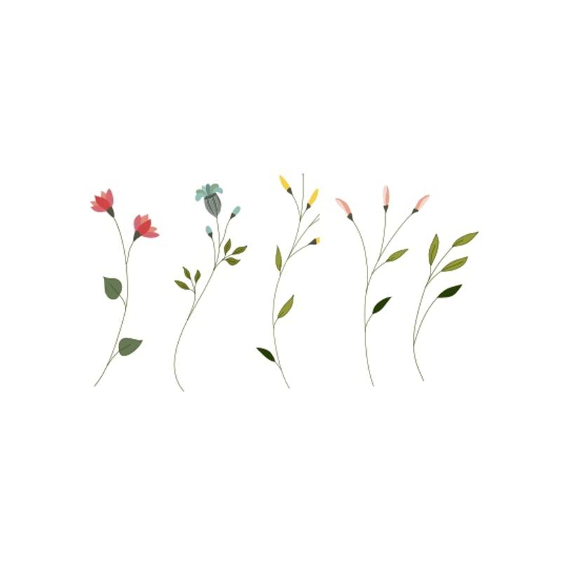 f3ec226071534 Wyuen Flowers Waterproof Temporary Tattoo Stickers for Adults Kids Body Art  Fresh Tender P-049