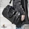 ETONWEAG Brands Cow Leather Duffle Bag Black Zipper Fashion Men Travel Bags Big Capacity Shoulder Bags Vintage Organizer Luggage