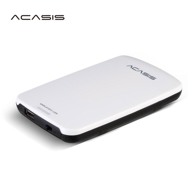 Livraison gratuite en vente 2.5 ''ACASIS Original 500 GB USB2.0 HDD disque dur Mobile disque dur externe ont interrupteur d'alimentation bon prix
