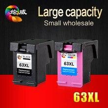 2 Упак. Картридж для HP 63xl Черный Триколор используется для DESKJET 3630 3632 Officejet 4652 4655 4522 принтеры
