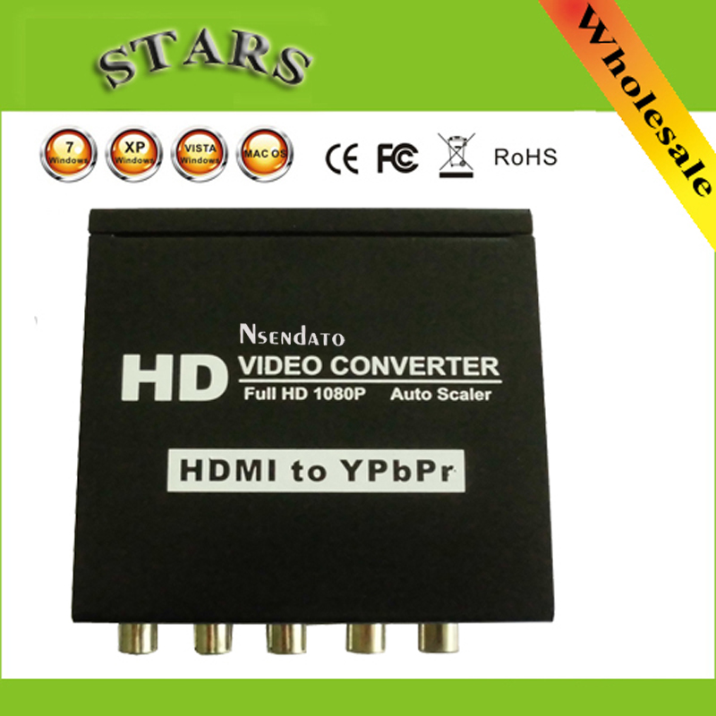 HDMI Ypbpr Vidéo Convertisseur RGB 5RCA Composant Stéréo Audio HD Vidéo Adaptateur Pour PS3 TV HDTV STB DVD Projecteur, Livraison gratuite