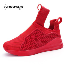 Fashion Men Casual shoes 2016 Autumn New design Breathable Mesh Flat with black White Red Men Shoes Plus EUR Size 39-44
