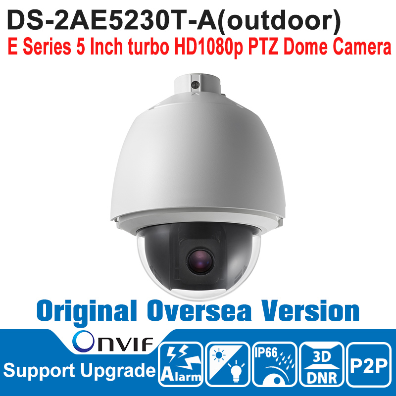 DS-2AE5230T-A HIK PTZ Camera 2MP Outdoor 5 Inch turbo HD1080p PTZ Dome Camera Speed Dome Camera IP66 ONVIF CMOS english firmware ptz camera ds 2de7184 a 2mp hd 1080p ptz speed dome camera ip66